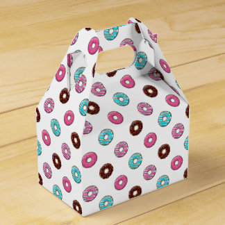 Frosted Donuts with Any Color Background Wedding Favour Box