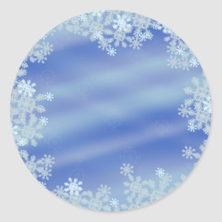 Frosted Edges Classic Round Sticker