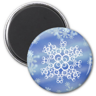 Frosted Edges II 6 Cm Round Magnet