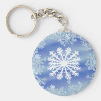 Frosted Edges III Basic Round Button Key Ring