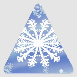 Frosted Edges III Triangle Sticker