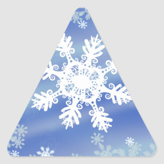 Frosted Edges VII Triangle Sticker