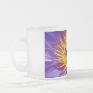 Frosted Flower Bee Mug