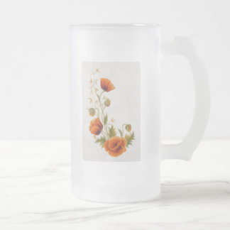 Frosted flower coffee mug