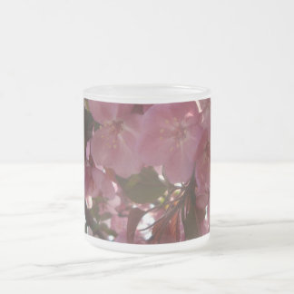 Frosted Flowers 10 Oz Frosted Glass Coffee Mug