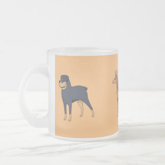 Frosted glass cup of dog show