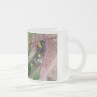 Frosted Glass Mug Bees Mating