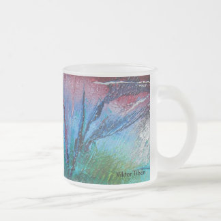 Frosted glass mug by Viktor Tilson