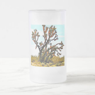 Frosted Glass Mug - Joshua Tree