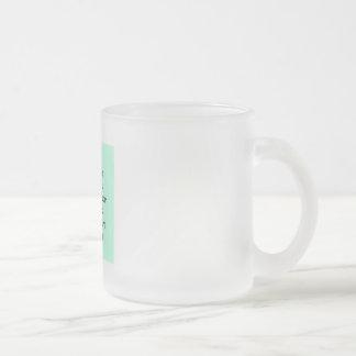 Frosted Glass Mug with social media TSU Writing.