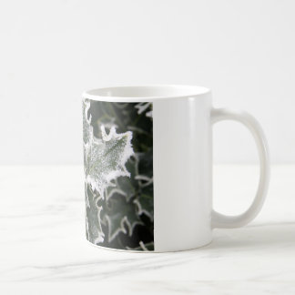 Frosted Holly Leaves Coffee Mug