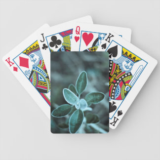 Frosted Leaf Bicycle Playing Cards