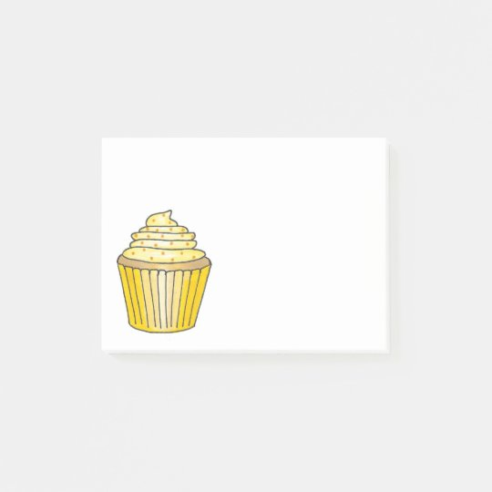 Frosted Lemon Yellow Cupcake Cake Foodie Post Its