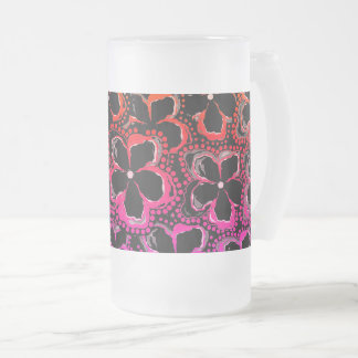 Frosted Mug Black Red Pink Custom