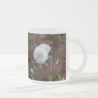 frosted mug with dandelions