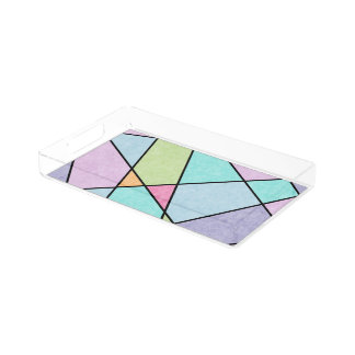 Frosted pastel abstract geometric design