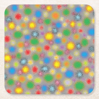 Frosted Polka Dots Square Paper Coaster