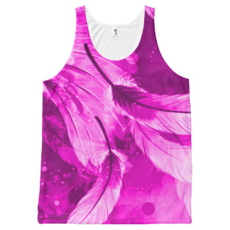 Frosted Purple Angelic Dreams Airbrush Art All-Over Print Tank Top