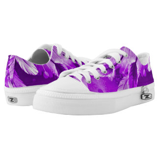 Frosted Purple Angelic Dreams Airbrush Art Zipz Printed Shoes