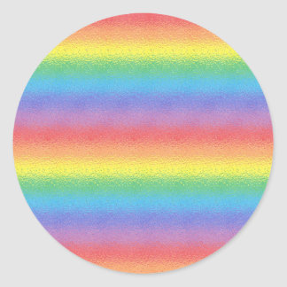Frosted Rainbow Stickers