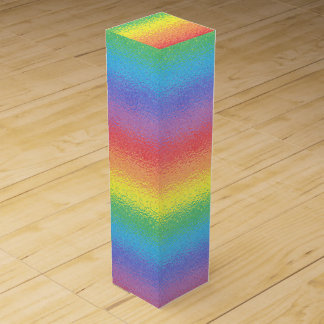 Frosted Rainbow Wine Gift Box