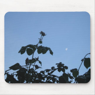 Frosted Rose with Moon Mouse Pad