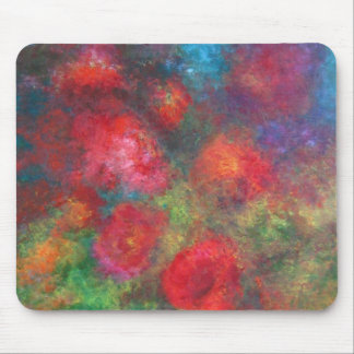 Frosted roses mouse pad