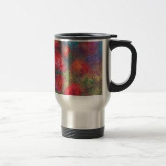 Frosted roses travel mug