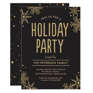 Frosted Snowflakes EDITABLE COLOR Party Invitation