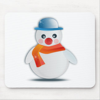 Frosted Snowman Mouse Pad
