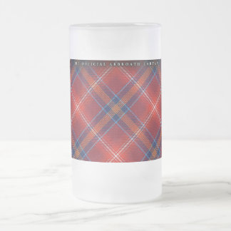 Frosted Stein - Red Lichtie Tartan - Customizable