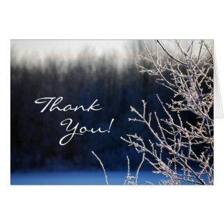 Frosted Thank You Card