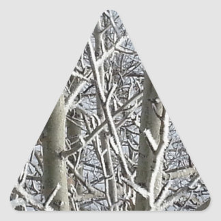Frosted Trees 2 Triangle Sticker
