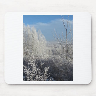 Frosted Trees 3 Mouse Pad