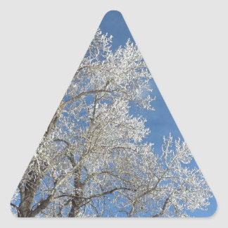 Frosted Trees 4 Triangle Sticker