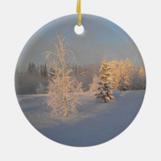 Frosted Trees Ornament