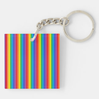 Frosted Vertical Rainbow Keychain