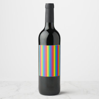 Frosted Vertical Rainbow Wine Label