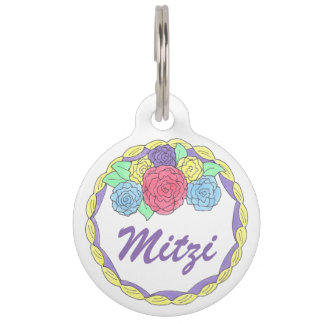 Frosting Flower Cake Decorator Foodie Pet Dog Tag
