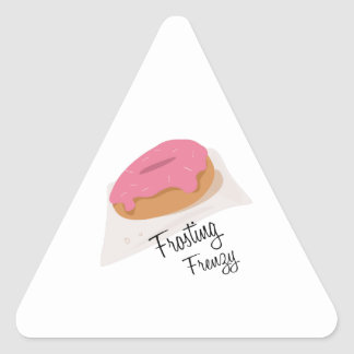 Frosting Frenzy Triangle Sticker