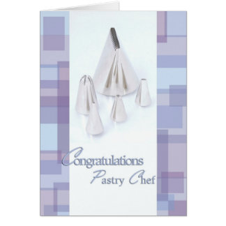 Frosting Tips - Congratulations Pastry Chef Grad Greeting Card
