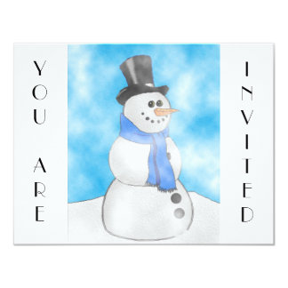 Frosty 11 Cm X 14 Cm Invitation Card