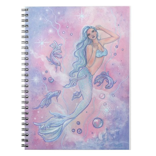 Frosty Betta mermaid blank journal by Renee