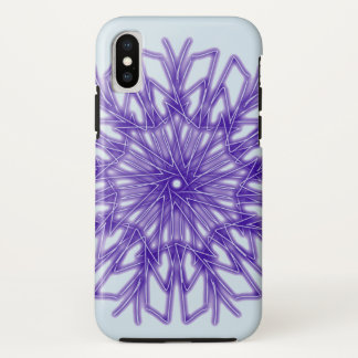 Frosty Blue Holiday Snowflake ~ iPhone X Case