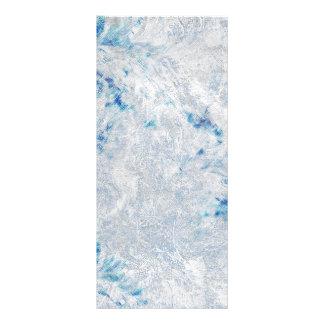 Frosty Blue Ice background Custom Rack Card