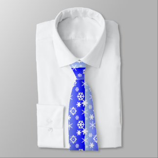 Frosty Blue with Snow Flakes Tie