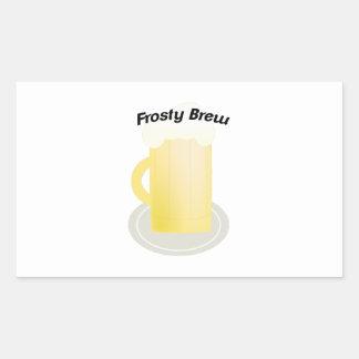Frosty Brew Rectangular Sticker