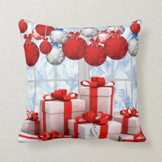 """Frosty Christmas Morning"" Throw Pillow 16"" x 16"""