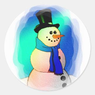 Frosty Dreams Round Sticker