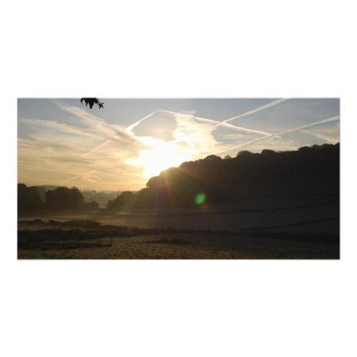frosty fields 2 photo greeting card